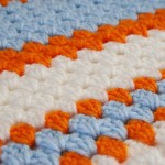 alfombra en punto simple crochet
